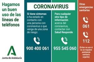 Teléfonos de Atención Coronavirus - Junta de Andalucía