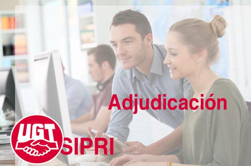 SIPRI, publicada ADJUDICACIÓN de sustituciones y vacantes 25/10/2021