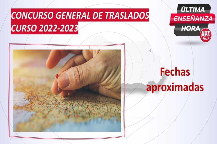 Fechas aproximadas del Concurso General de Traslados para el curso 2022-2023