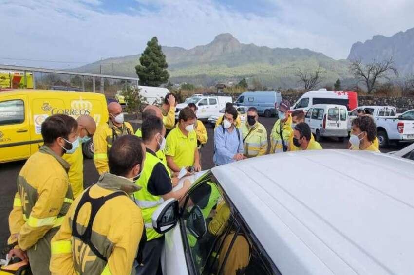 Los bomberos/as forestales también están en La Palma