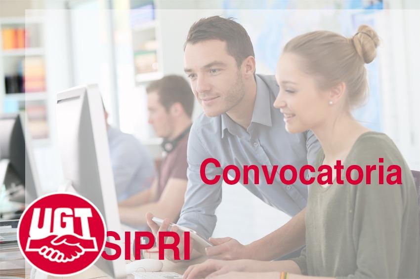 SIPRI: publicada CONVOCATORIA de sustituciones y vacantes, 21/10/2021